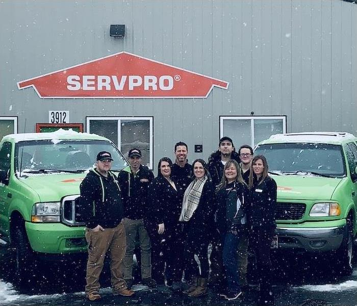SERVPRO crew ready to go.