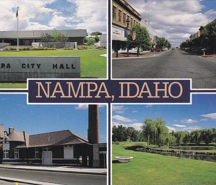 A collage of different places in Nampa.