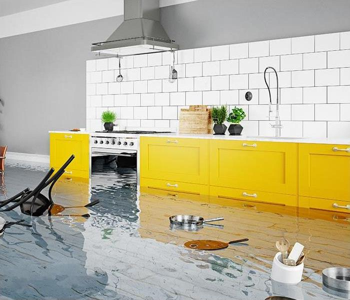 flooding causing damage in home